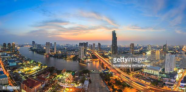 highway, City scapes in bangkok,Thailand,Panorama.