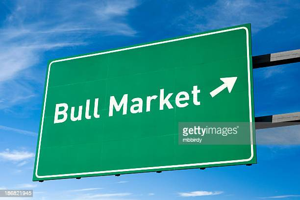 Highway directional sign for Bull market