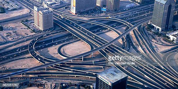 highway, dubai - eric van den brulle stock pictures, royalty-free photos & images