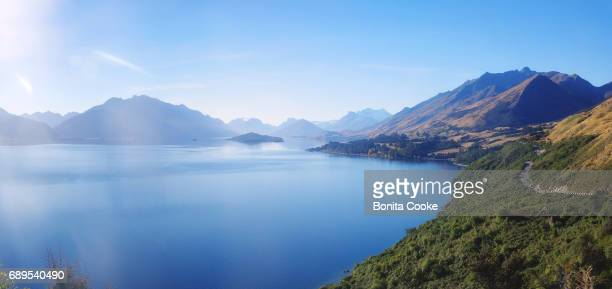 Highway from Queenstown to Glenorchy, following Lake Wakatipu