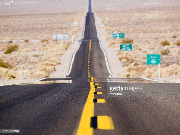 highway going through death valley - clemson south carolina stock photos and pictures