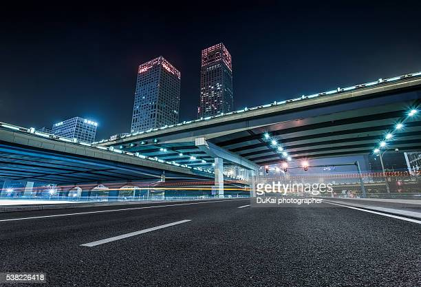 highway in beijing - urban road stock pictures, royalty-free photos & images