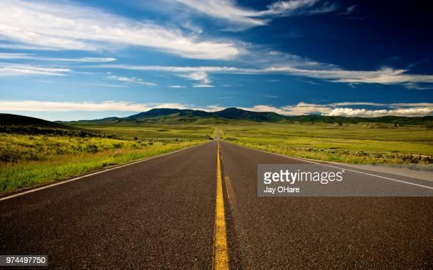 highway in colorado, steamboat springs, colorado, usa - steamboat springs colorado stock photos and pictures