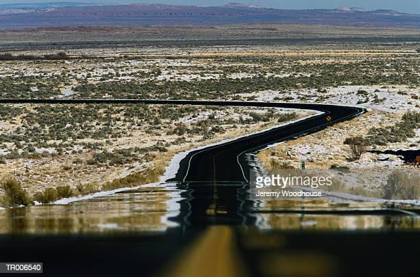 Highway in Desert Heat