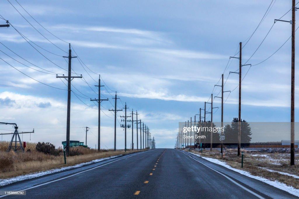 Highway in Gooding, Idaho : Stock Photo
