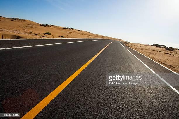 Highway in Inner Mongolia, China