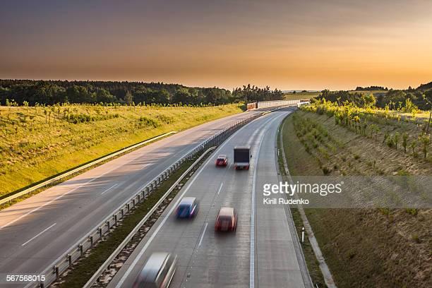 Highway in Prague, Czech Republic