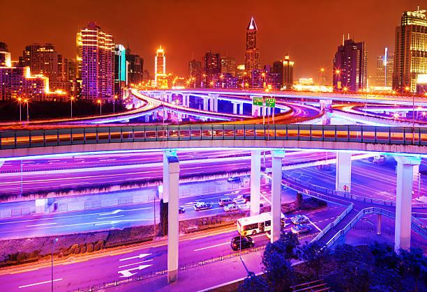 """Highway In Shanghai, China"" Wall Art"