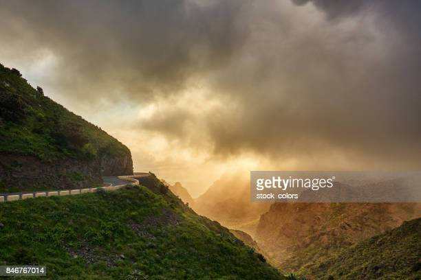 highway in tenerife mountains - canyon stock pictures, royalty-free photos & images