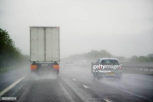 M6 Highway in the Rain