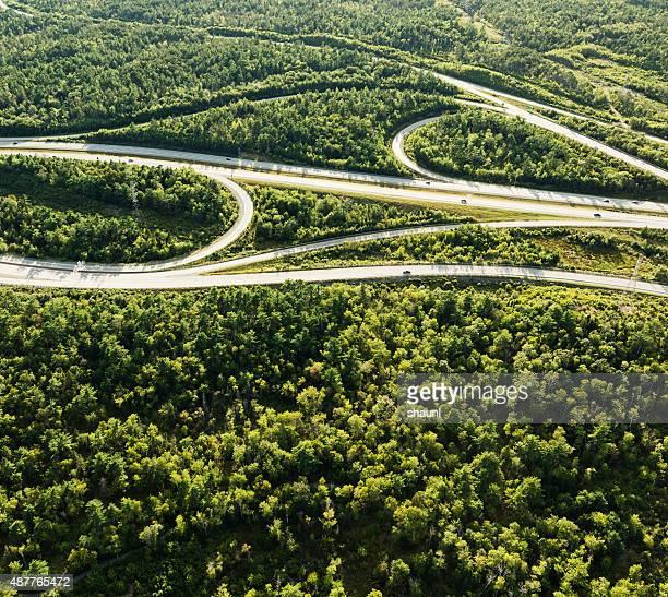 Highway Interchange, vista aérea