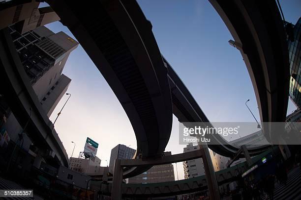 Highway Interchange of Ikebukuro Sunshine city Ikebukuro Toshima ward Tokyo Prefecture Japan February 2014