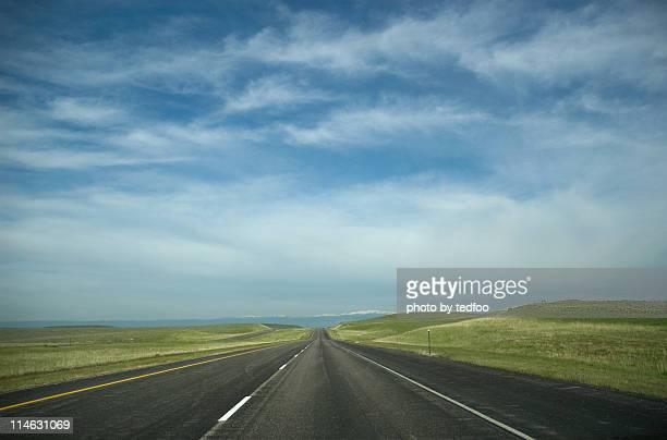 Highway into Montana