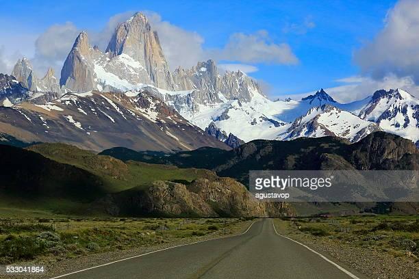 Chalten Carretera, cerca de la montaña, Patagonia, Argentina, Los Glaciares