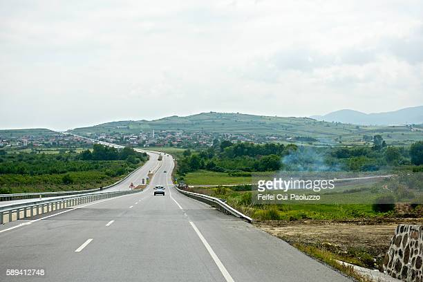 Highway near Adatepe of Zonguldak province in Turkey