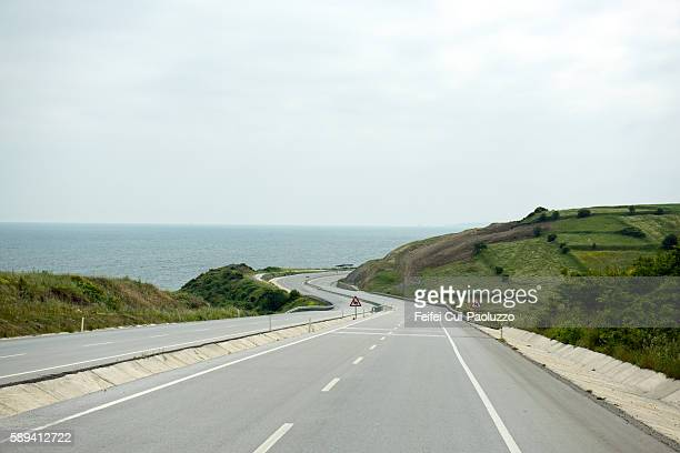 Highway near Canakkale of Canakkale Province in Turkey