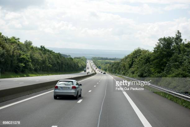 Highway near Rochefort, Namur Province, Wallonia region, Belgium