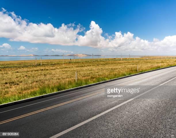 Highway near the Qinghai lake