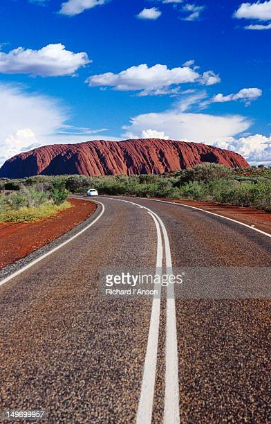 Highway near Uluru (Ayers Rock).