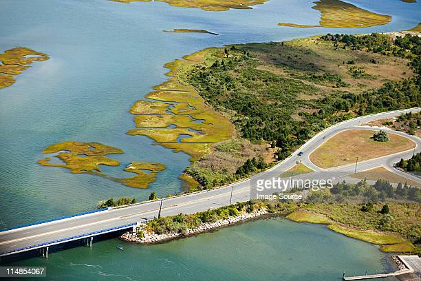 highway, newport county, rhode island, usa - newport county stock photos and pictures
