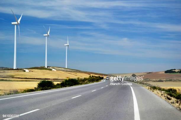 Highway of Vejer de la Frontera in spring