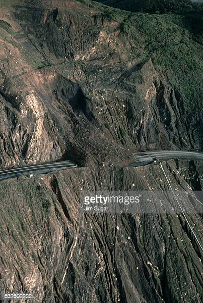 Highway One Washed Out at Devil's Slide