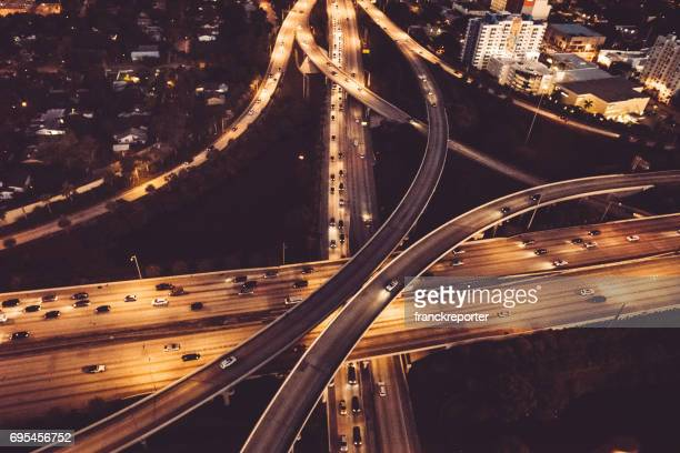 Autobahn Überführung Luftbild in miami
