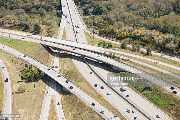 Highway Overpass, Bridge and Interchange Aerial