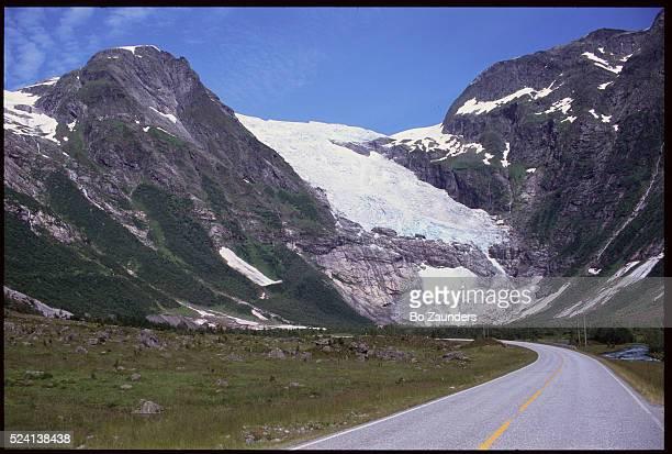 Highway Past Briksdal Glacier