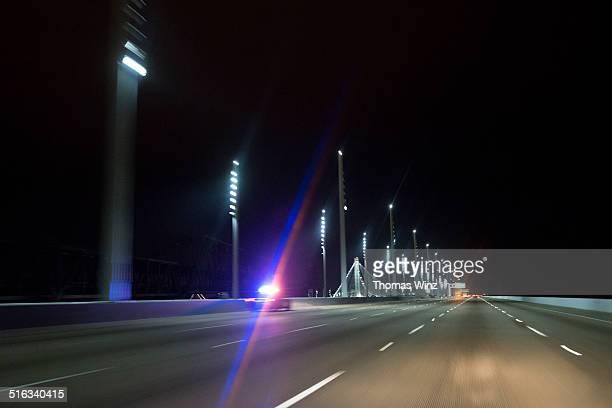 Highway Patrol on a freeway