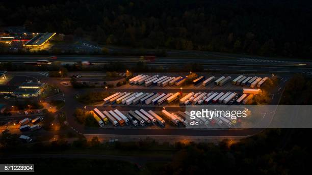 Highway rest area, truck parking