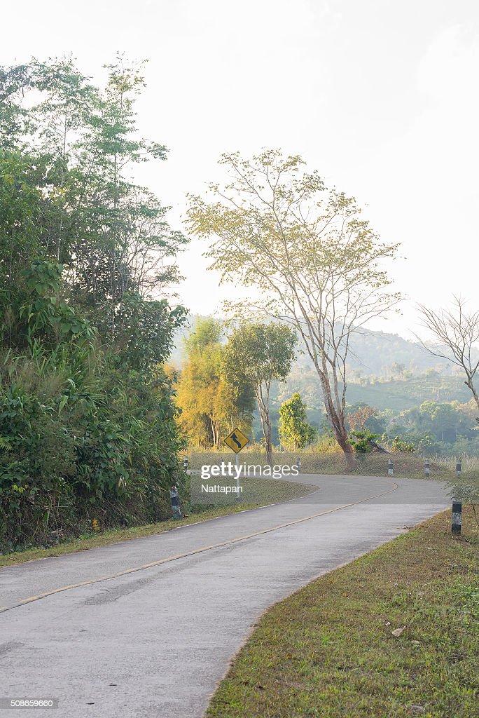 Highway / Road in Bo Kluea district , Nan Thailand : Stock Photo