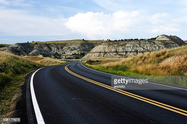 Highway Road Through Badlands
