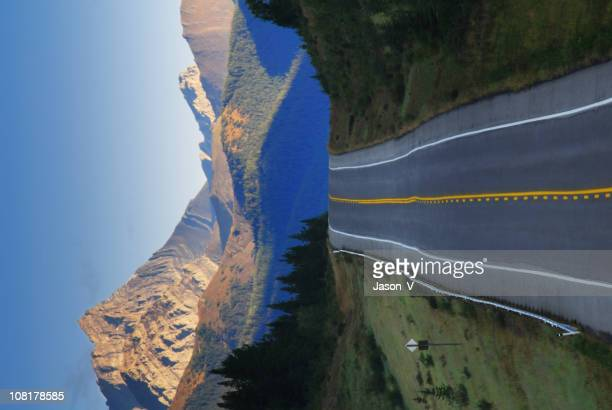 highway road towards mountains at sunrise - kananaskis country stock pictures, royalty-free photos & images