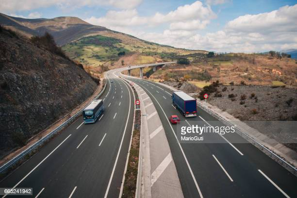 highway scene - thoroughfare stock photos and pictures