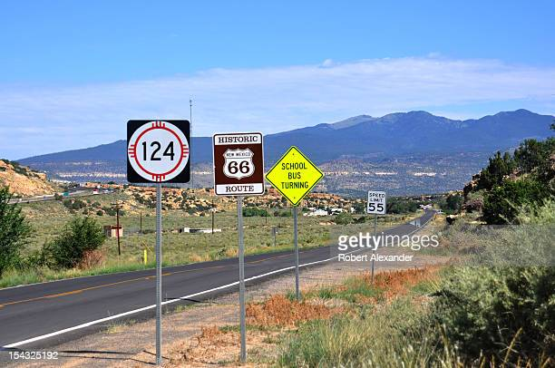 A highway sign along a stretch of historic Route 66 near Budville New Mexico 5104602RA_Route08jpg