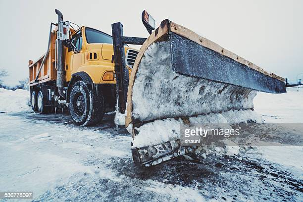 highway snow plow - snowplow stock pictures, royalty-free photos & images