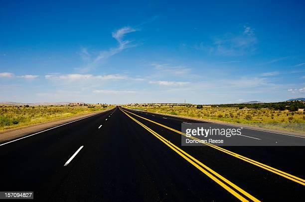 Highway through a remote landscape