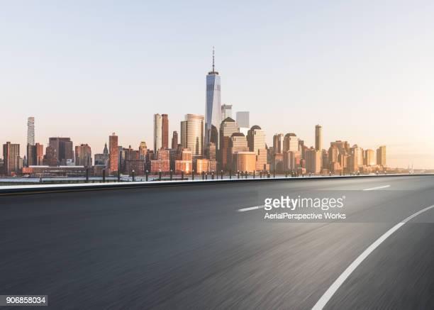 Highway through Manhattan