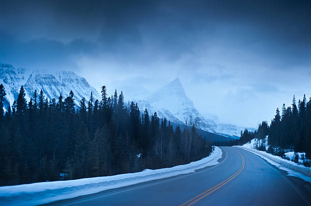Highway Through The Canadian Rockies Wall Art