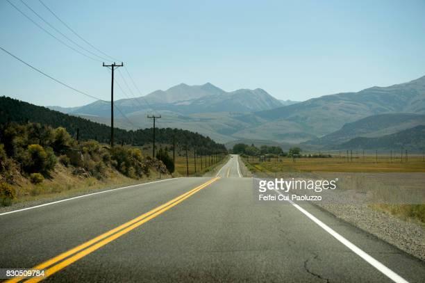 Highway to Bridgeport, Mono county, California, USA