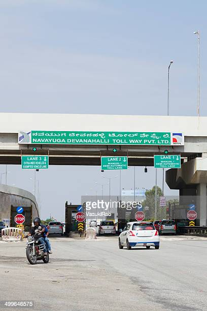 Highway toll booth, Bangalore, India