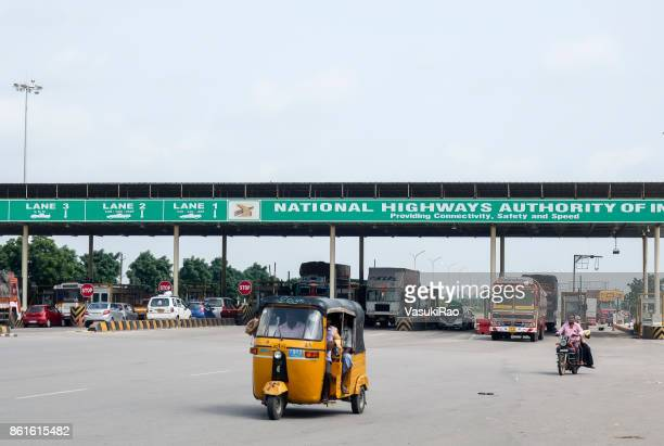 Highway toll collection gate, Andhra Pradesh, India