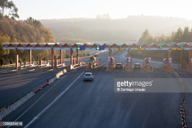 highway toll gate - a coruna stock pictures, royalty-free photos & images