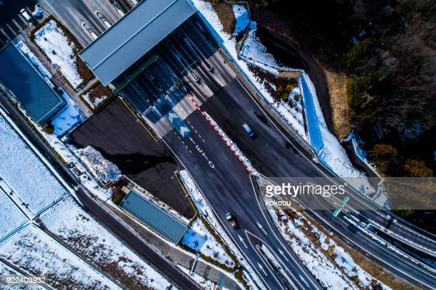 highway toll gate. - doncaster stock pictures, royalty-free photos & images