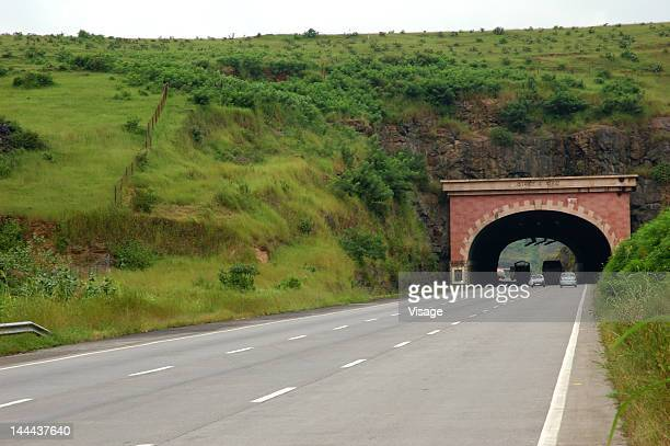A highway tunnel