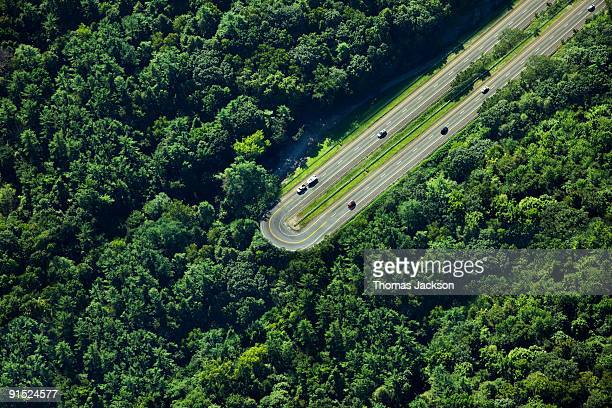 highway u-turn in forest - the end stock pictures, royalty-free photos & images