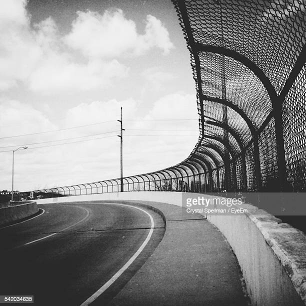 highway with crash barrier - barrier highway stock photos and pictures
