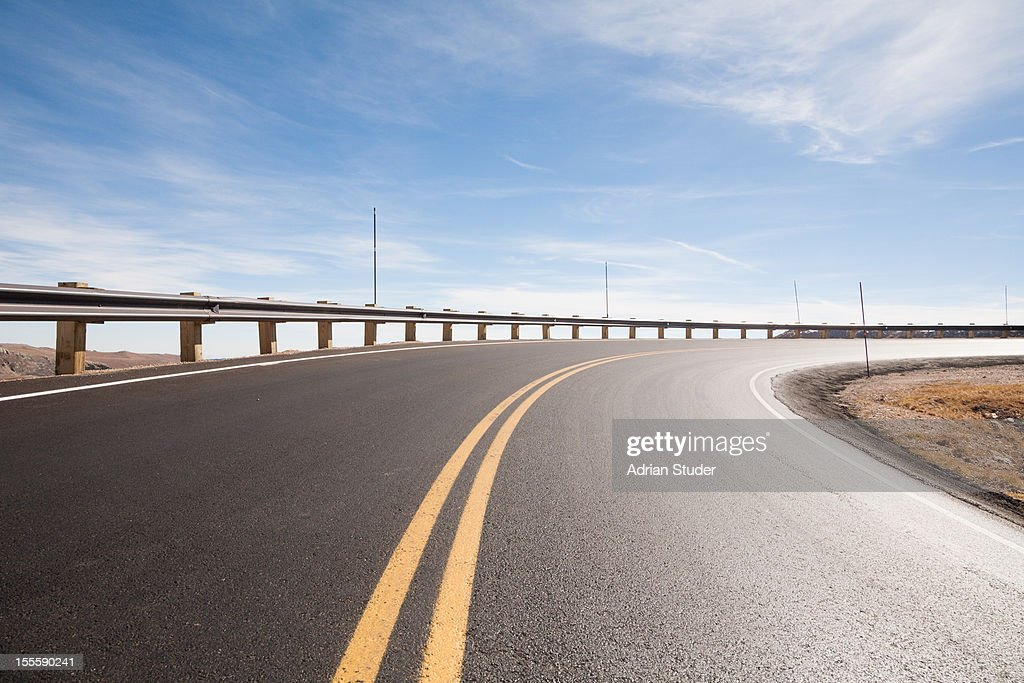 Highway with Guard Rail : Stock Photo
