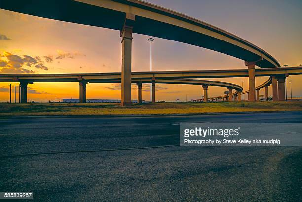 Highways at sunset